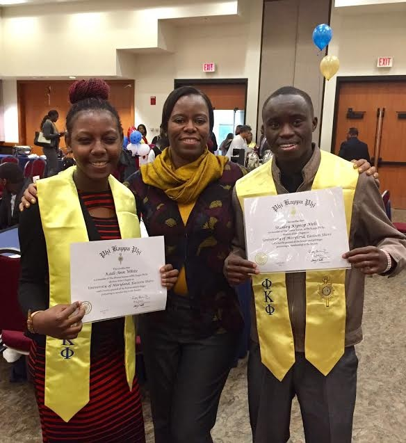Dr Khoza with Convocation honorees Kadi Ann White and Stanley Meli April 2017