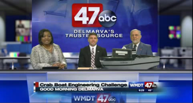 Crab Boat Engineering Challenge on WMDT 47 news page